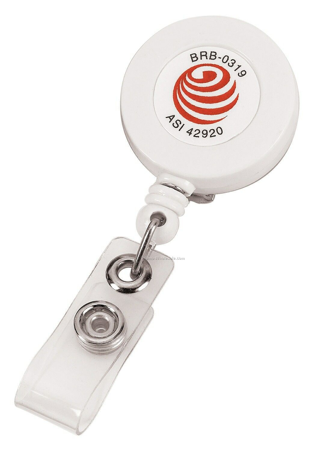Retractable Badge Holder W/ Swivel Clip (Direct Imprint)