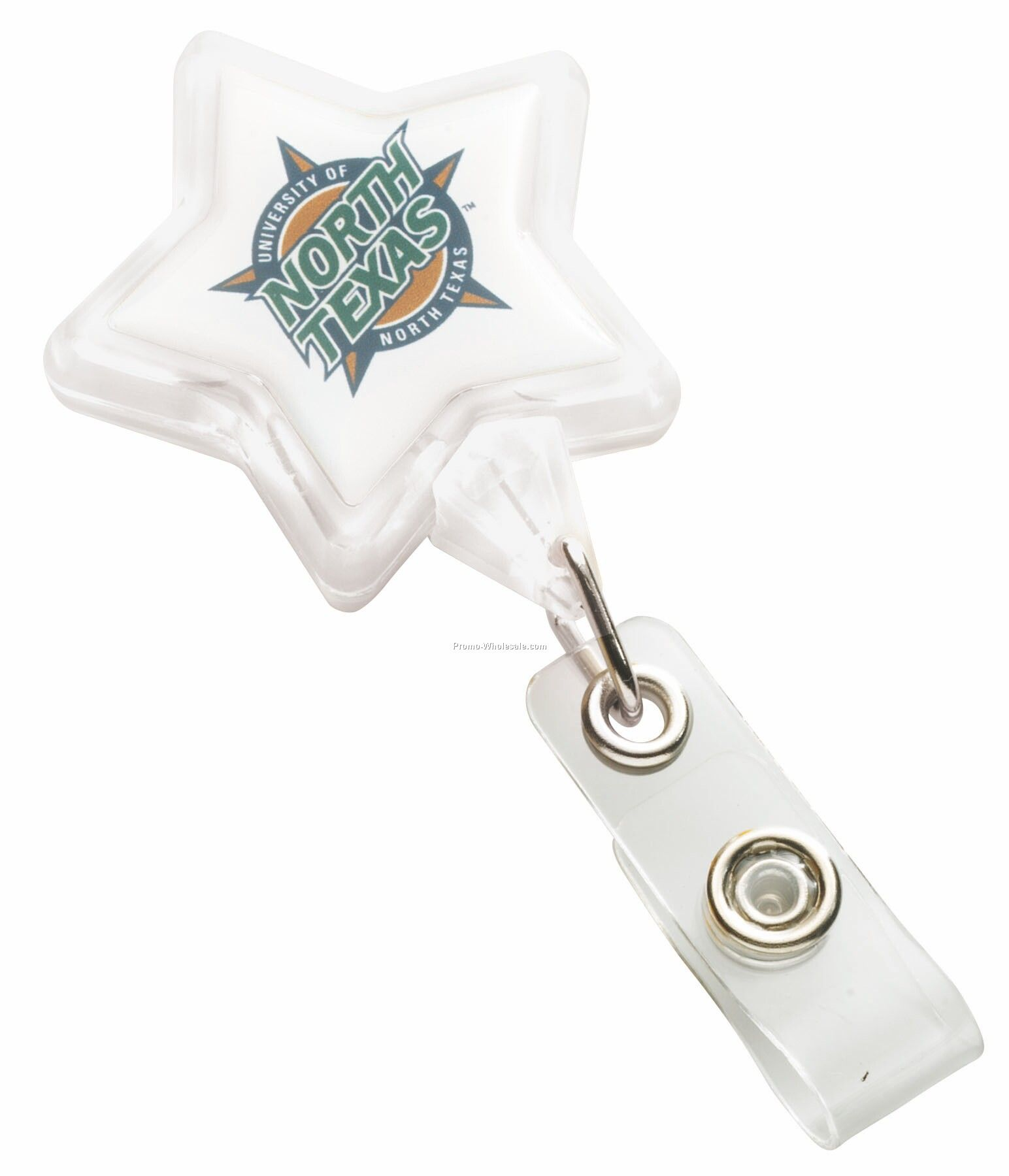 Star Badge Holder With Slide Clip