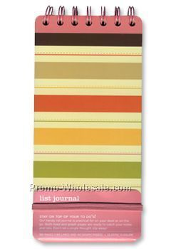Toffee Stripes List Journal