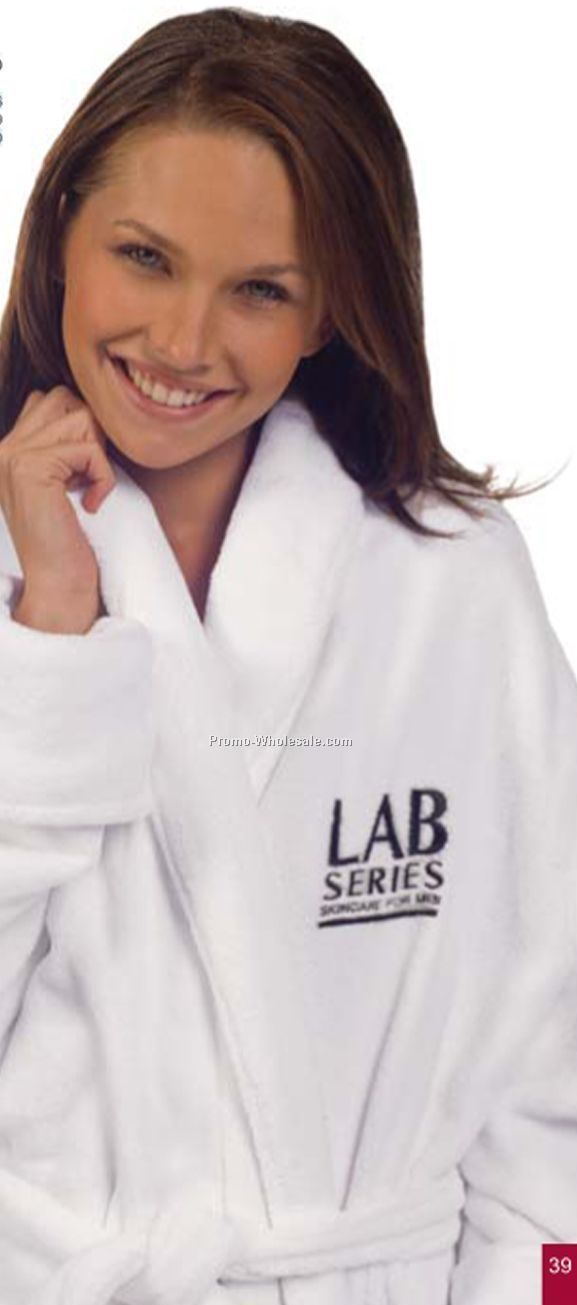Water Absorbent Tahoe Micro Fleece Shawl Collar Robe - 1 Size (Blank)