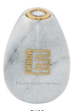 White Marble Egg Shaped Kaleidoscope (Sandblast)