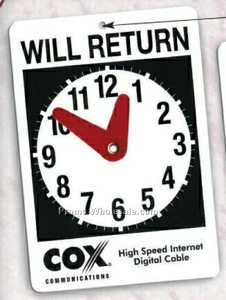 photograph about Will Return Sign Printable named Will Return Clock Signal For Doorways,Wholesale china