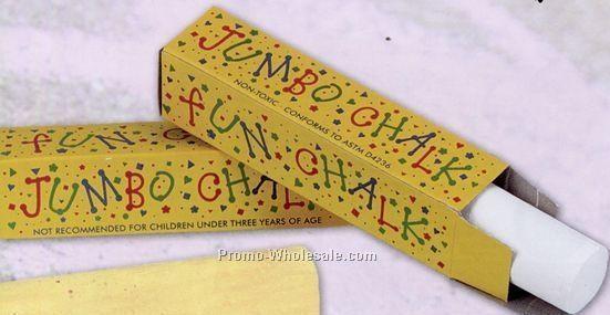 "1 Stick Jumbo 4"" Sidewalk Chalk In Colored Box (Blank)"