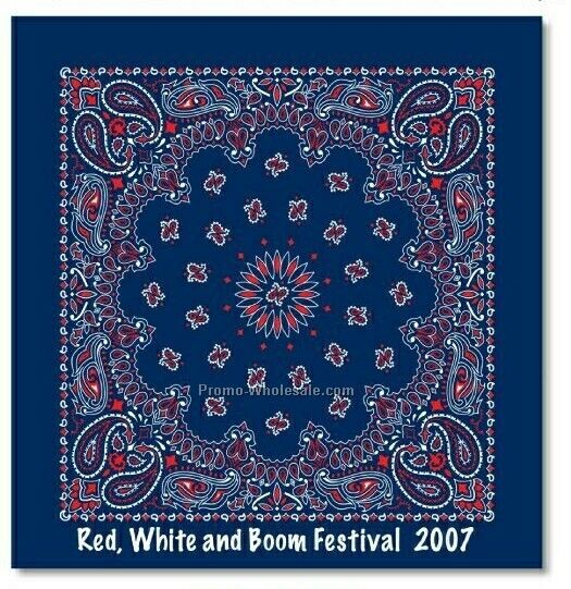 "100% Cotton Import Paisley Bandanna - 22"" (Screen Printed)"