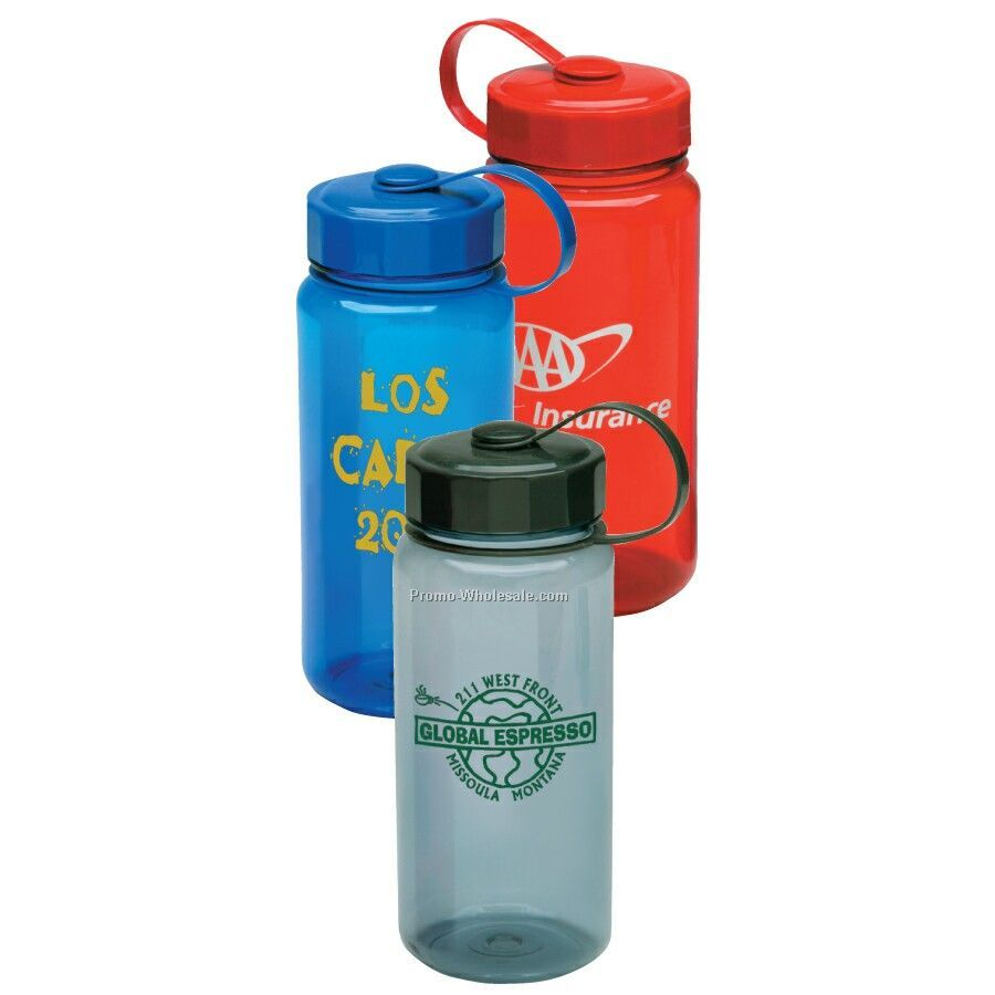 18 Oz. Poly Carbonate Bottle With Tethered Cap