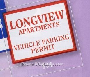 "3""x3"" Square Clear Static Stick Die Cut Parking Permit"