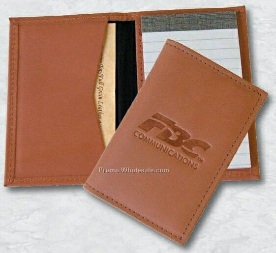 """4-1/4""""x2-3/4"""" Leather Pocket Note Keeper"""