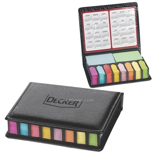 "5""x4-1/4"" Deluxe Sticky Note Organizer With Pads & Calendar"