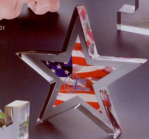 "6""x6""x1"" Acrylic Star Silhouette Award"