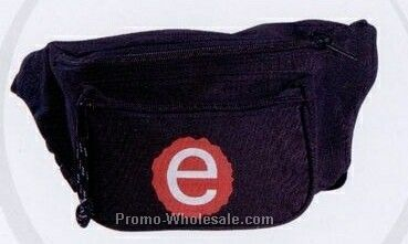 "6""x9""x4"" Deluxe Tri-pocket Polyester Fanny Pack"