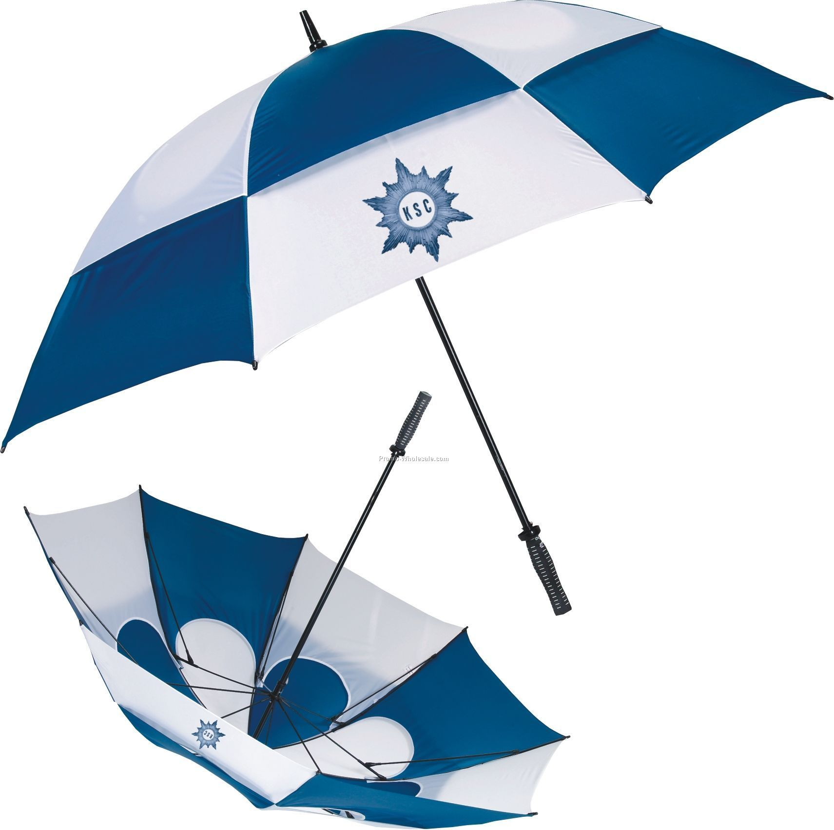 Acamp 270cm Wind Up Parasol - Navy | Altons
