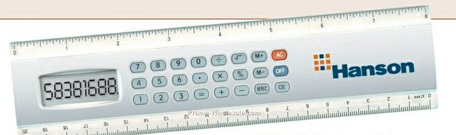"8"" Calculator Ruler"