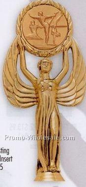 "8"" Plastic Casting W/ 2"" Medallion Insert - Winged Female"
