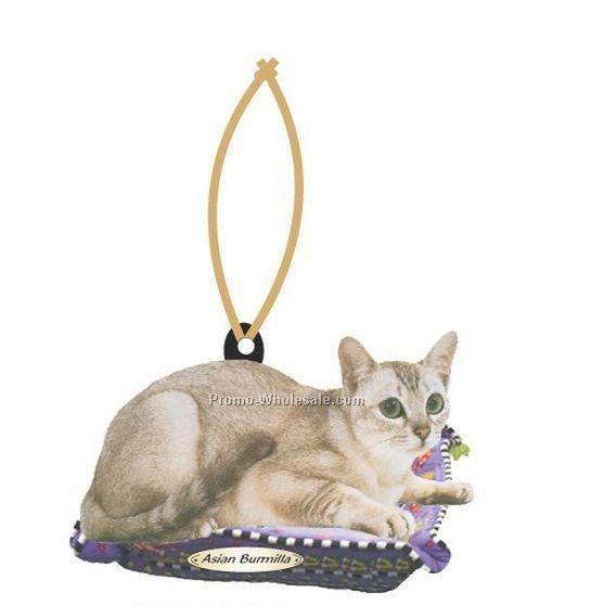 - Asian-Burmilla-Cat-Executive-Line-Ornament-W--Mirrored-Back--6-Square-Inch-_20090778173