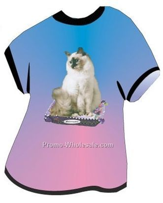 Birman Cat Acrylic T Shirt Coaster W/ Felt Back