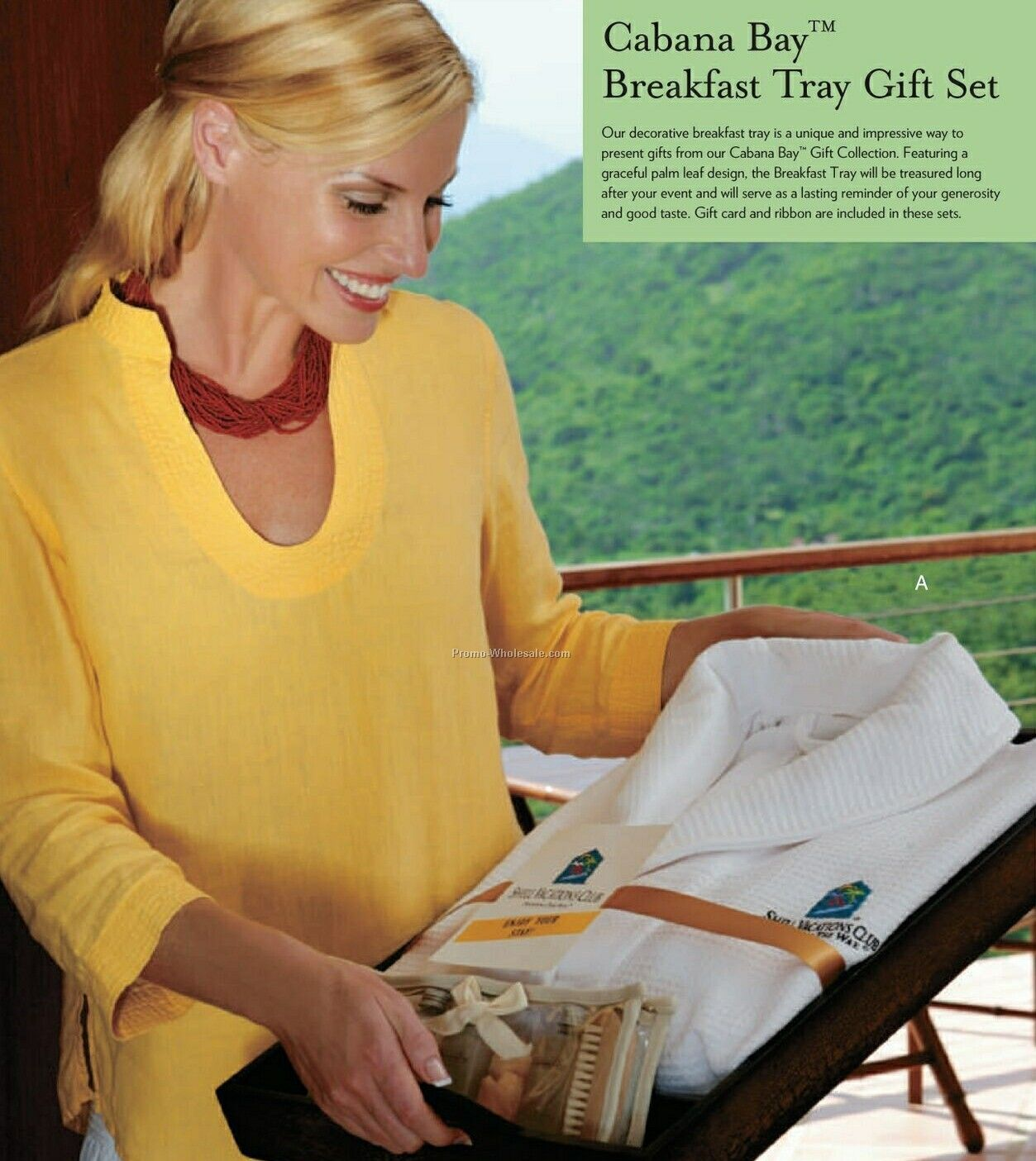 Breakfast Tray, Cabana Bay Robe & Travel Gift Set