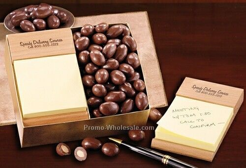Chocolate Almonds W/ Note Holder