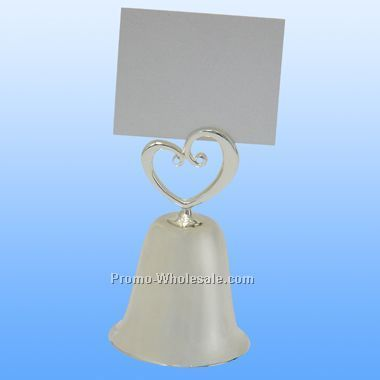 Heart Bell Placecard Holder - Screen Printed