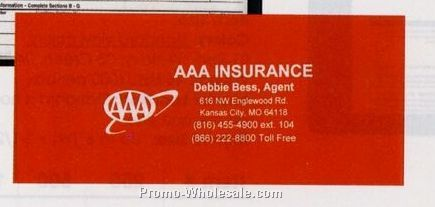 "Large Insurance Card Holder (9-1/4""x4"")"