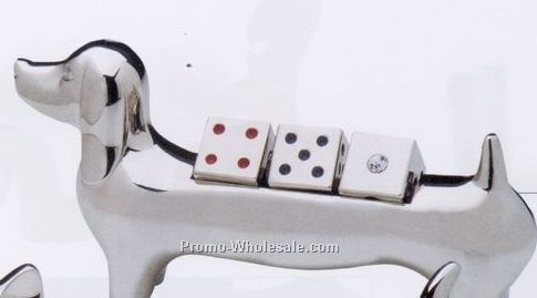 Minya Chrome Plated Dog Stand W/Dice Or Decision Maker,Wholesale china