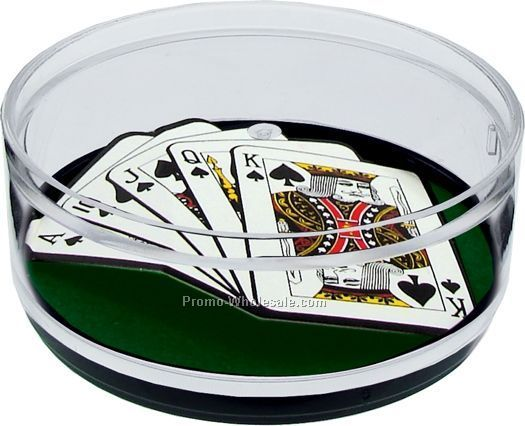 Royal Flush Compartment Coaster Caddy