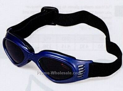 Silver/ Blue Children's Foldable Frame Goggles W/ Shock Absorbent Guard