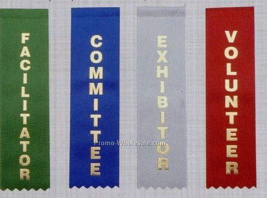 Stock Identification Ribbon (Pinked) - Volunteer