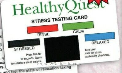 Stress Testing Card With Multilevel Stock Design (Express Service)