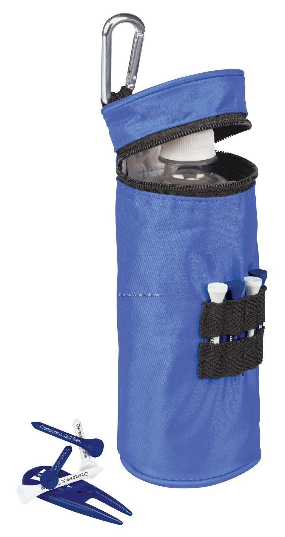 "Tee Off Water Bottle Cooler W/2-1/8"" Tees"