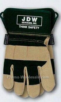 Cat Men S Premium Lined Pigskin Leather Gloves