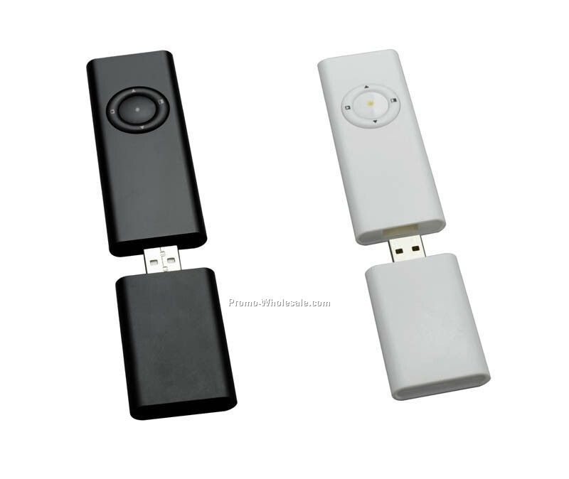 "Wireless Presentation Remote Control - 3-2/5""x1.35""x0.35"""