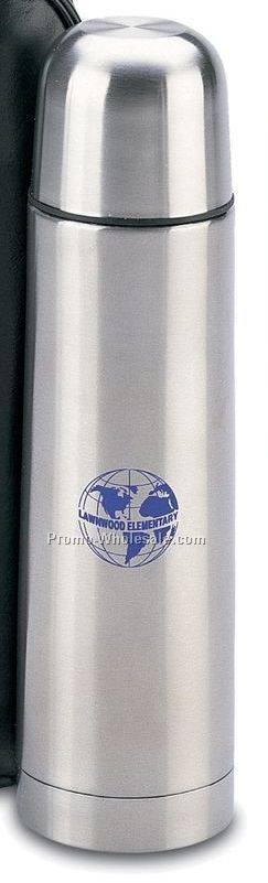 16 Oz. Stainless Steel Vacuum Flask W/ Carrying Case