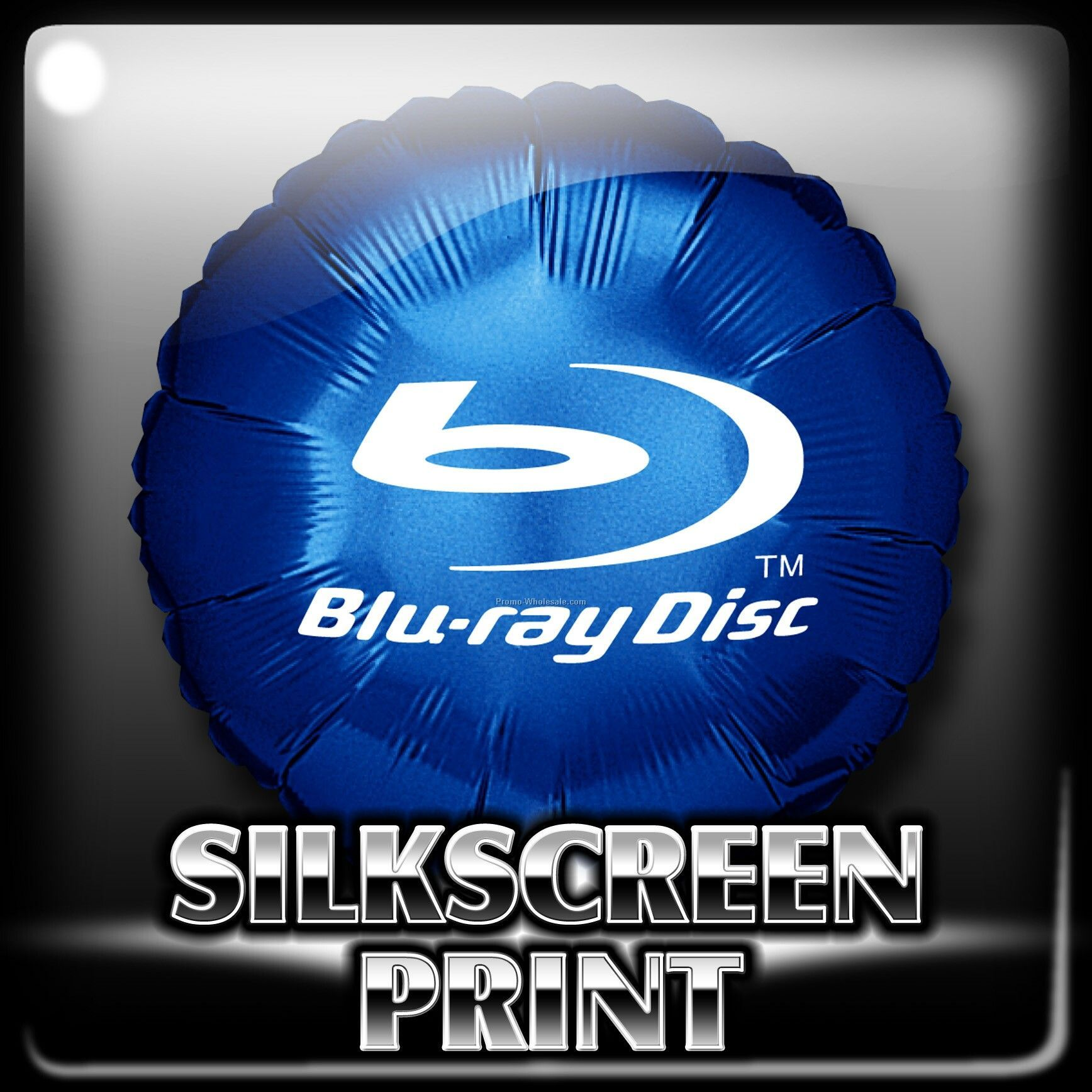 "18"" Foil Balloon, Round Shape; Silkscreen Printing"