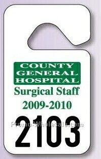 "2-3/4""x4-3/4"" Standard Hang Tag Parking Permit (.035"" Polyethylene)"