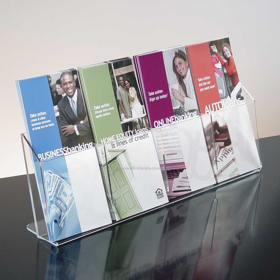 pocket Clear Acrylic Brochure Holder - Countertop,Wholesale china