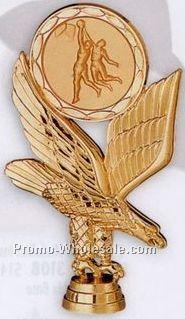"6"" Plastic Casting W/ 2"" Medallion Insert W/ Eagle"