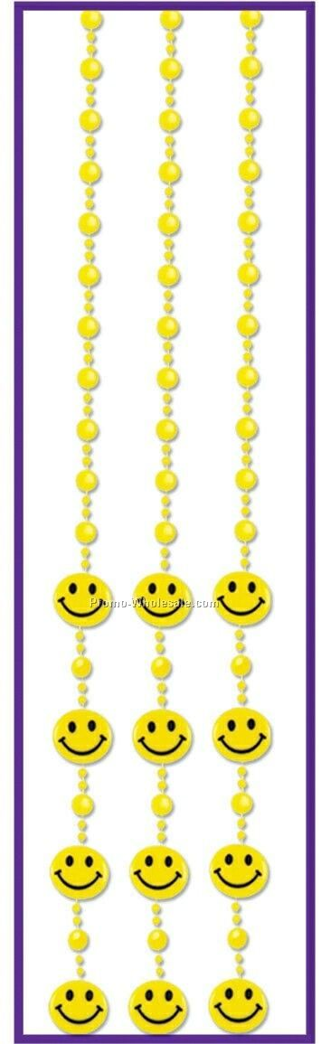 "78""x24"" Smile Face Bead Curtain"