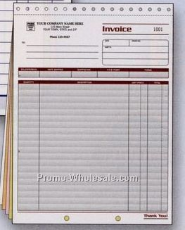"8-1/2""x11"" 5 Part Spectra Collection Large Invoice W/ Packing List"