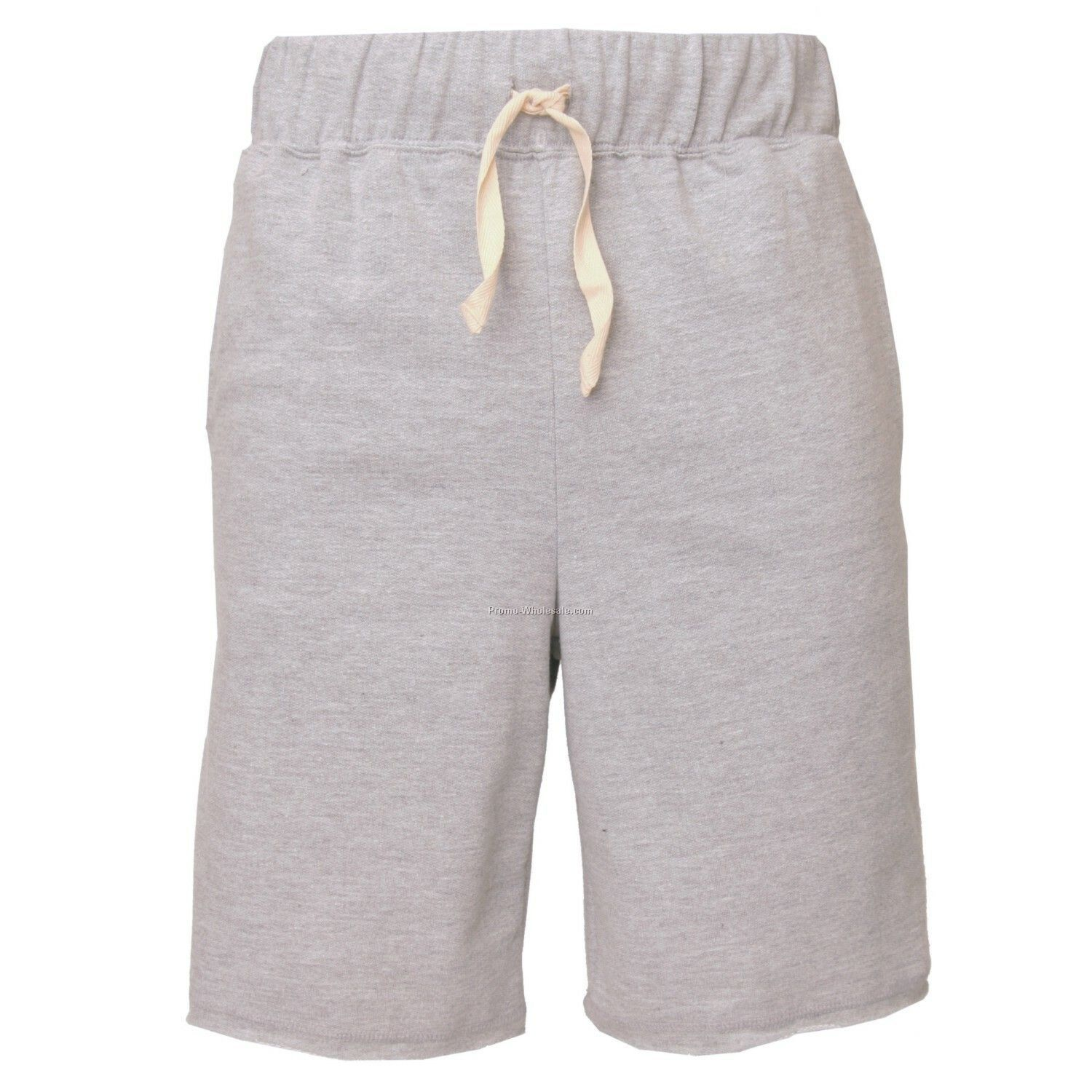 Adults` Heather Grey First Place Fleece Shorts With 2 Side Pockets (S-xl)