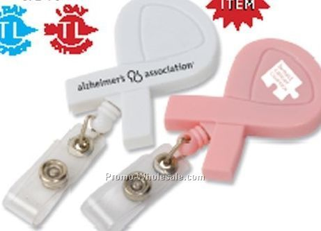Awareness Ribbon Retractable Badge Holder