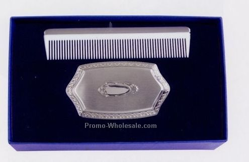 Boy's Embossed Brush & Comb Gift Set