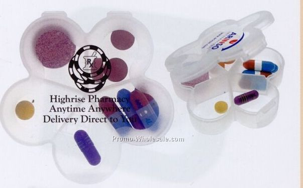 Daisy plastic pill case w 5 compartments 3 5 days for Coupons for factory direct craft