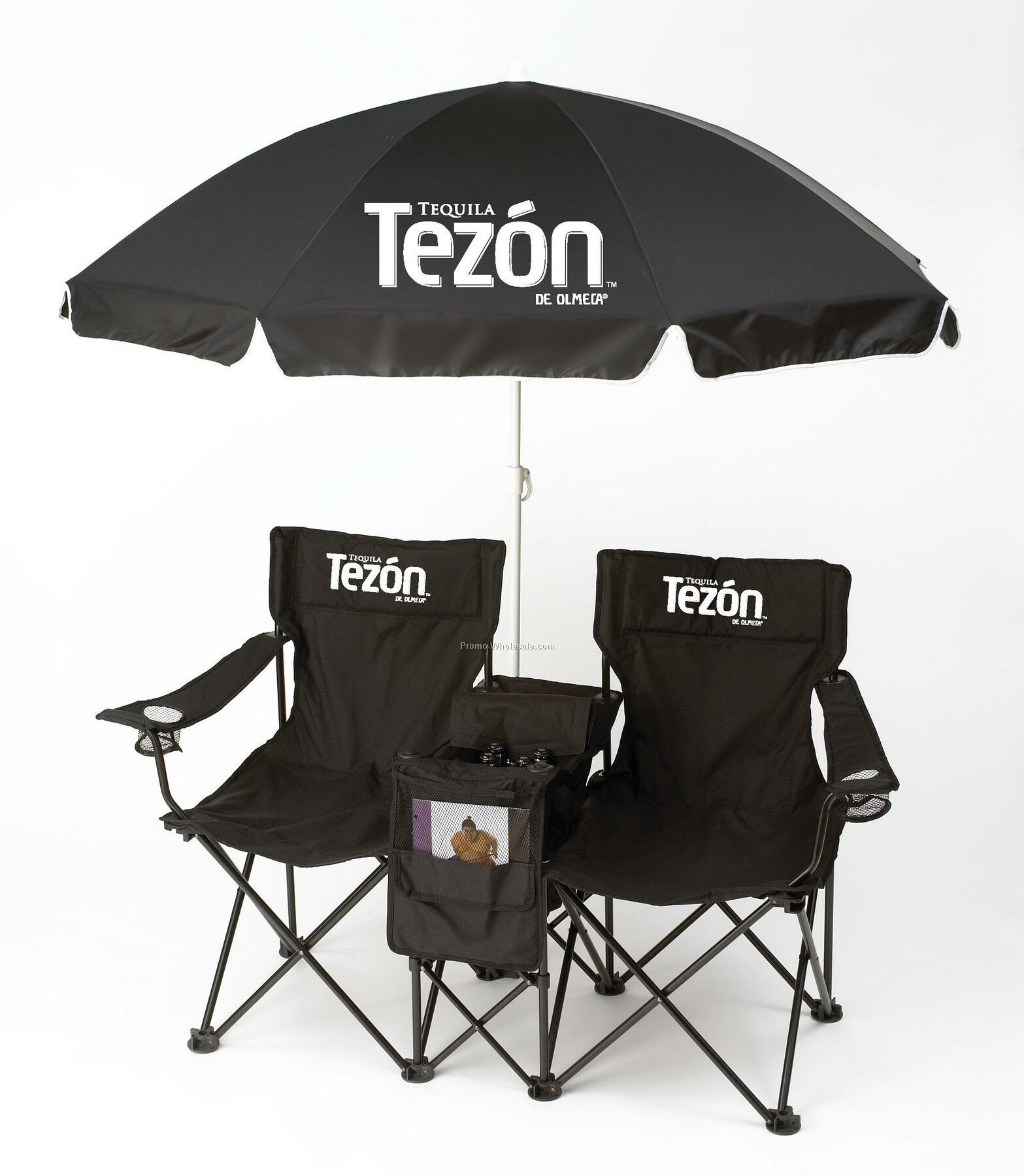 Double Chair Set With Umbrella