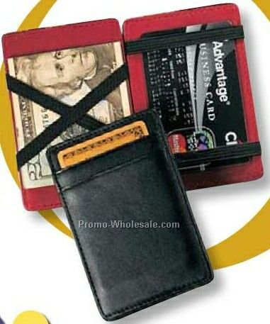 "Florentine Napa Leather Magic Wallet Business Card Case (4-1/8""x2-3/4""x1/4"""