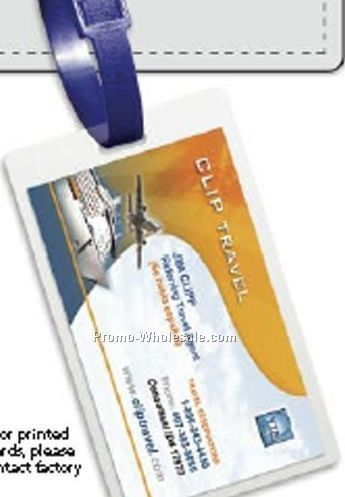 Luggage Tag Laminate Pouch (0.10 Mil)