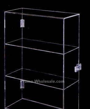 Medium Display Case W/ 2 Shelves & Lock