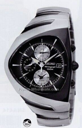 watches whole watches men s seiko alarm chronograph watch w triangular face silver black face