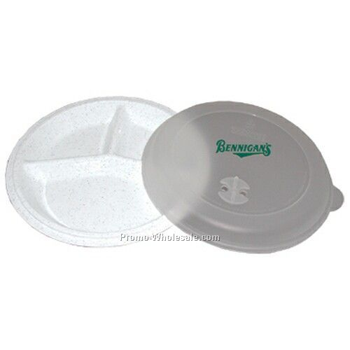 Microwave Plate W/ Vented Lid