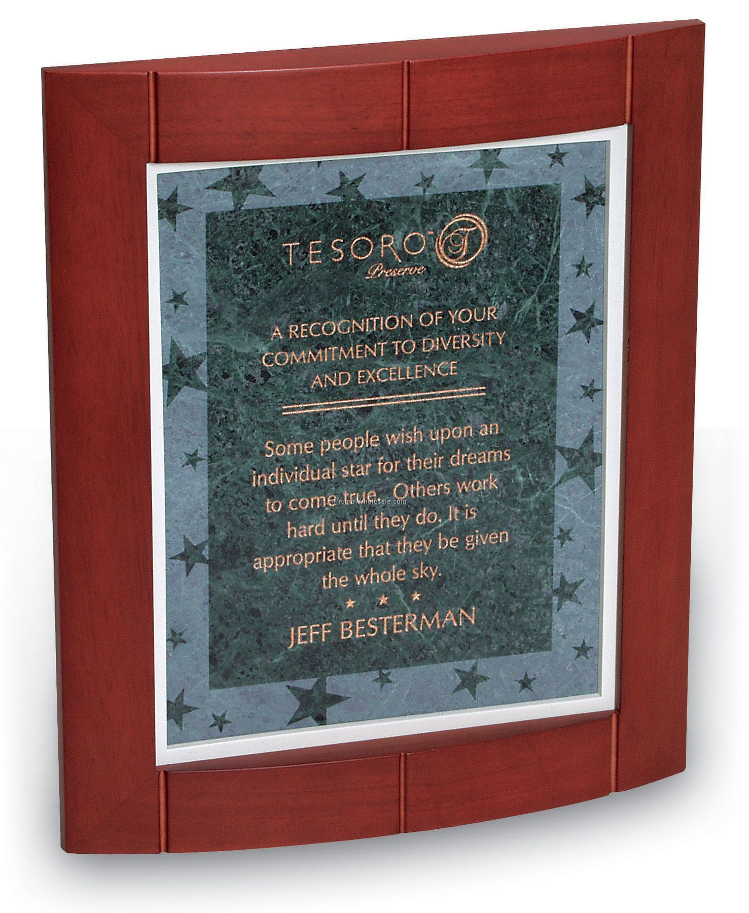 Nebula Small Green Marble Motivation Frame/ Plaque