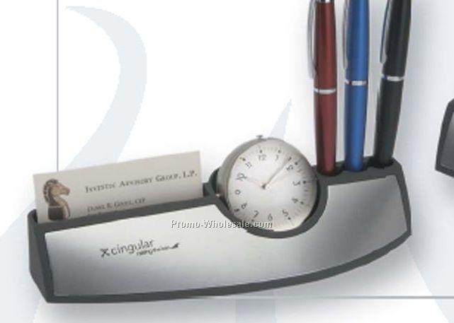 Perugia Workstation With Clock, Frame & Pen Holder